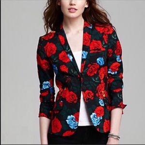 VINCE CAMUTO | Red Roses Floral Blazer Jacket Sz 6